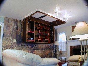 Secret Ceiling Gun Storage and Display | StashVault