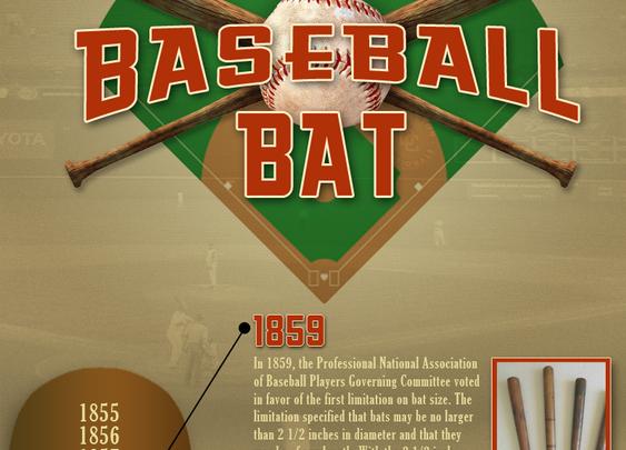 History Of The Baseball Bat Infographic