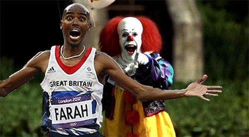 Mo Farah Running Away From Things