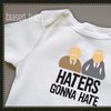 Haters Gonna Hate Onesie  Funny Baby Gift by biasedbaby on Etsy
