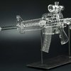 Life-Size Clear Glass Assault Rifle Pipes