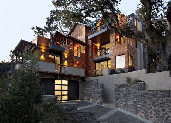 House Porn: The Contemporary Hillside House by SB Architects