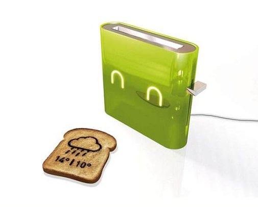 A Toaster That Will Print the Weather Report on Your Toast | Foodiggity.com