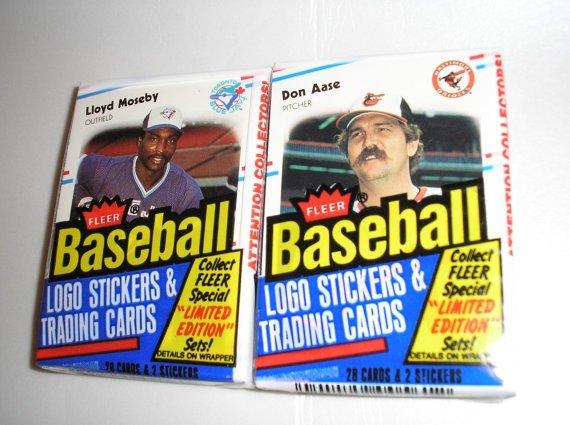 1988 Fleer Vintage Basbeball Cards  2 packs  56 Cards by daddydan