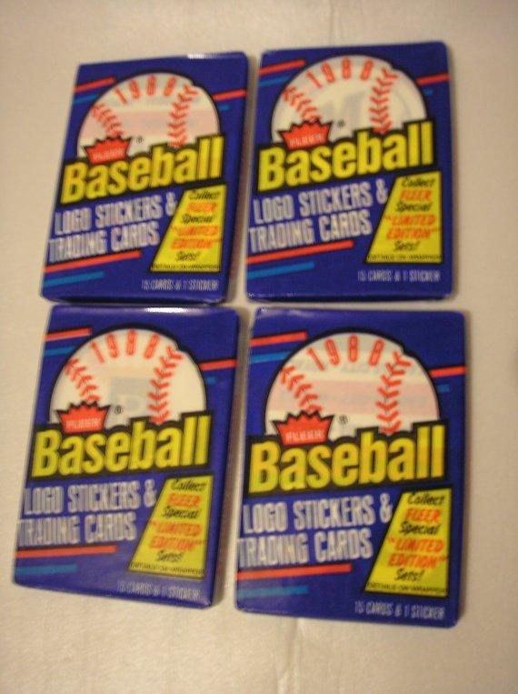 1988 Fleer Vintage Basbeball Cards  4 packs  60 Cards by daddydan