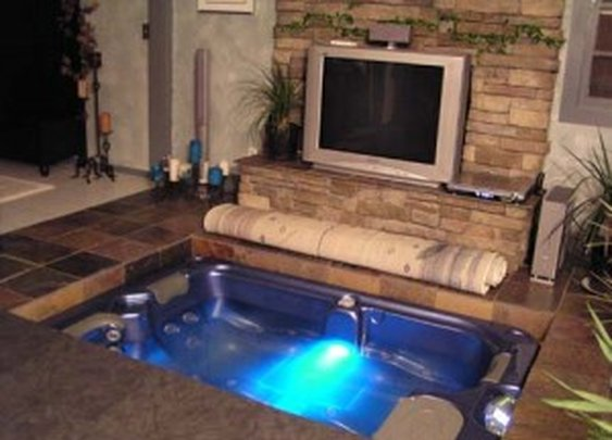 Hidden Hot Tub in Floor