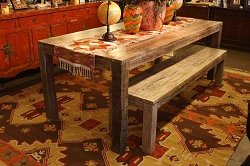 Salvaged Wood  Dining Table Made from Old Boats- Modern and Classic Furniture Custom Designed and Handcrafted Los Angeles Furniture Store