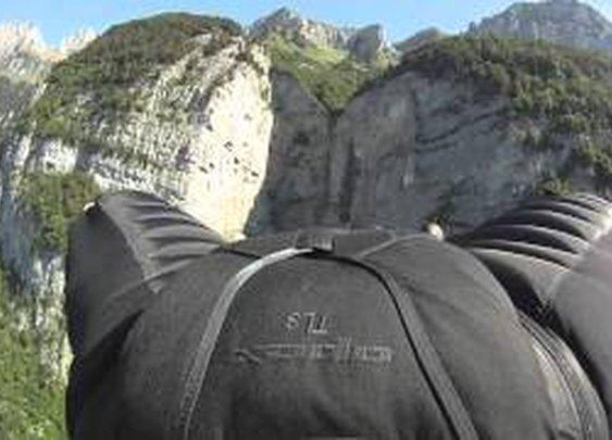 "Jeb Corliss "" Grinding The Crack"" - Wingsuit flight"
