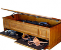 Coffee Table with Hidden Long Gun Storage Compartment