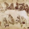 Da Vinci's Practice Drawing for the Last Supper