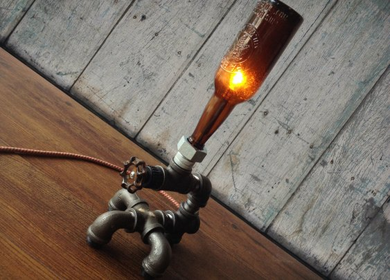 Vintage Brewery Bottle Lamps