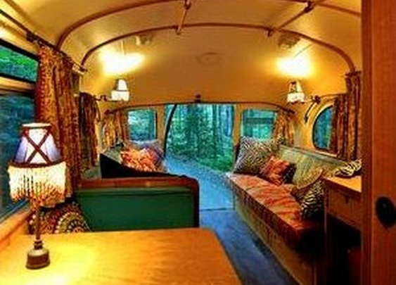 Tiny Bus Converted Into a Motorhome