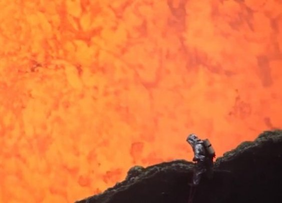 Up Close and Personal With a Lava Lake (video)