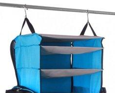 Rise & Hang duffel bag transforms into a hanging set of shelves