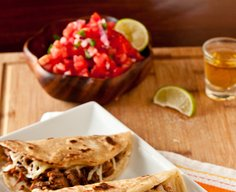 Brie and Brisket Quesadillas or Tacos with Mango Barbecue Sauce Recipe | Confections of a Foodie Bride