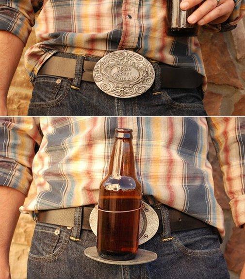 BevBuckle: Finally, A Decent Beer-Holding Belt Buckle   Geekologie