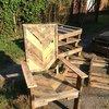 Pallet Wood Chair - www.facebook.com/helprenew