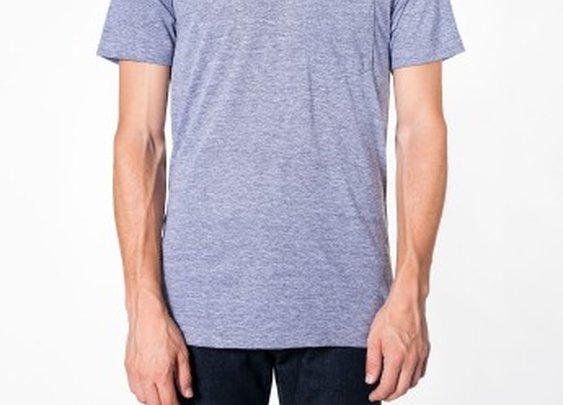 Tri-Blend Pocket Short Sleeve T-Shirt | Crew Necks | Men's T-Shirts | American Apparel
