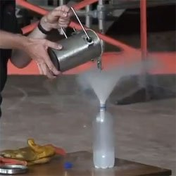 What happens when you seal liquid nitrogen.
