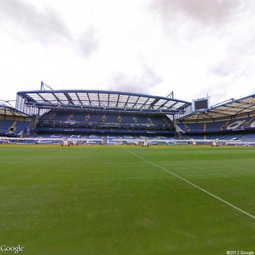 Step on the pitch at Chelsea FC via Google Streetview