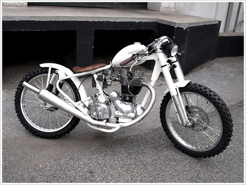 "Kingston's Royal Enfield 500 -""No.5"" - Pipeburn - Purveyors of Classic Motorcycles, Cafe Racers & Custom motorbikes"