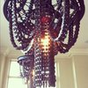Recycled Bike Chandelier
