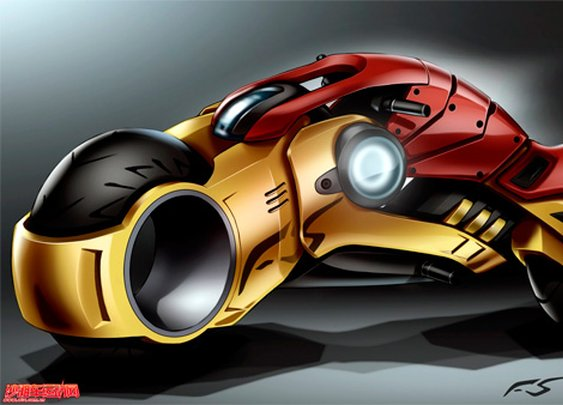 Iron Man-TRON Lightcycle Concept Design