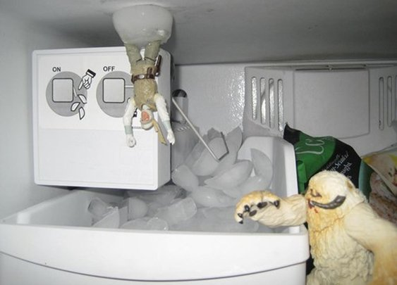 Empire Strikes Back Scene...recreated in the freezer