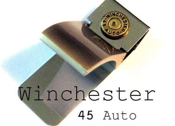 Money Clip Winchester 45 auto bullet by lizzybleu
