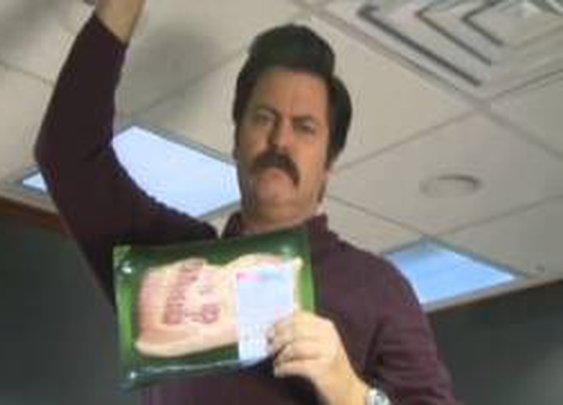 Ron Swanson: Bacon Shortage PSA