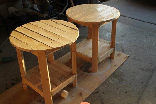 Diy pottery barn inspired benchright side table gentlemint for Diy barn table