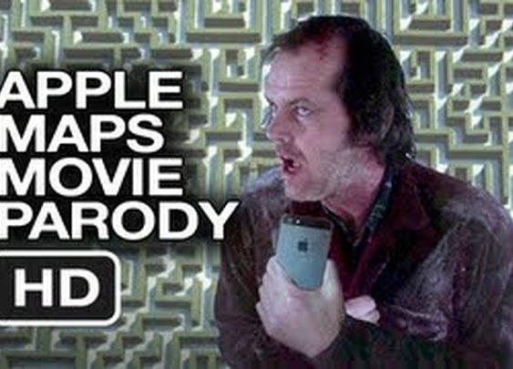 Apple Maps The Shining Parody Movie HD - YouTube