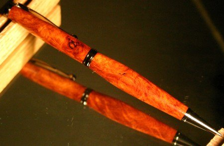 Wood Pen: rare amboyna men's desk wood pen by Hope & Grace Pens