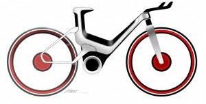 Electric Bicycle-Ford E-Bike with a smartphone Samsung Galaxy S II