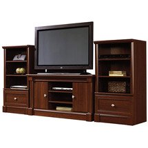 Superior Sauder Palladia TV Stand And Storage Towers Value Bundle, Cherry: Furniture  : Walmart.