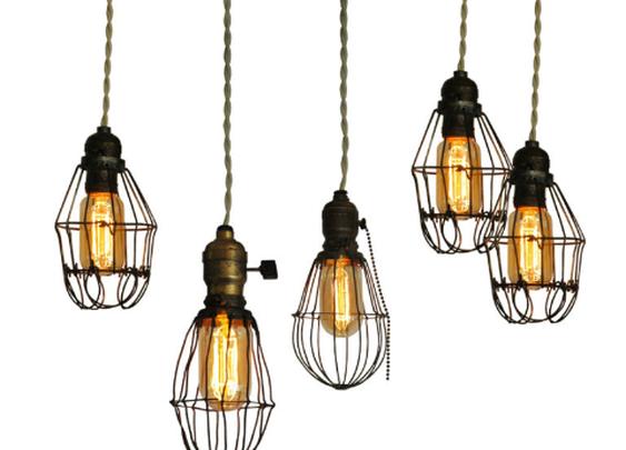 DIY Vintage Cage lights