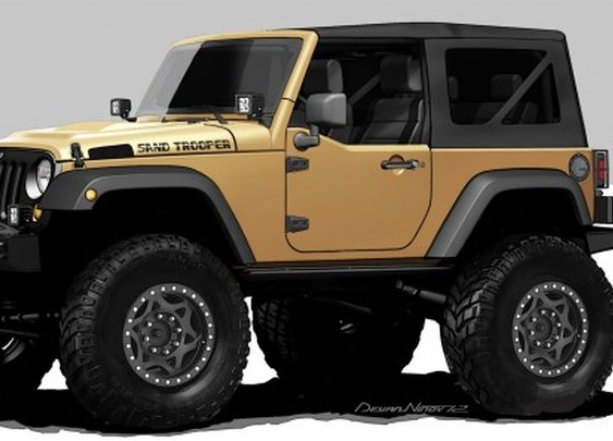 Chrysler to showcase Jeep Wrangler Sand Trooper and seven other custom vehicles