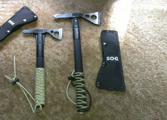 SOG Fasthawk and Tomahawk.