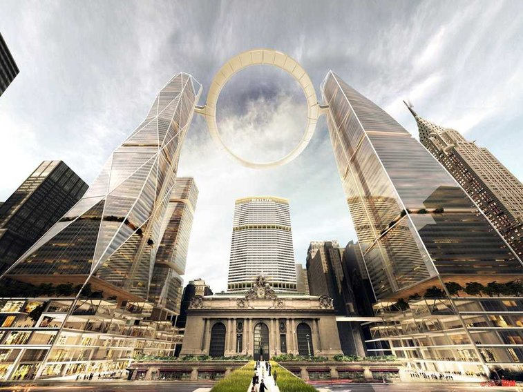 NYC Architecture Firm Wants To Build This Crazy, Futuristic Halo Above Grand Central Station