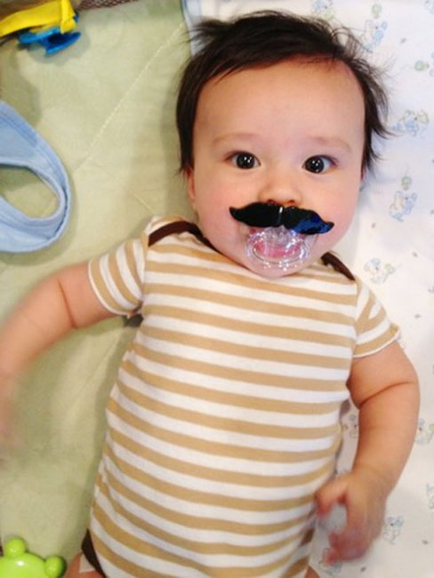 mustache pacifier gentlemint. Black Bedroom Furniture Sets. Home Design Ideas