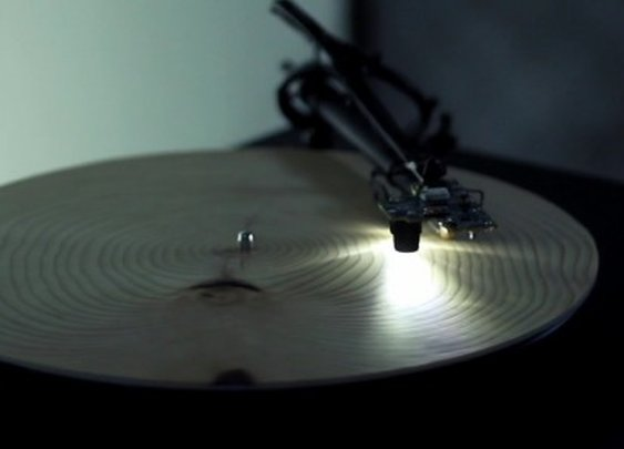 This record player reads tree rings instead of LPs