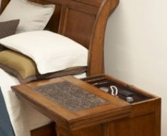 Secret Compartment Nightstand Sliding Top