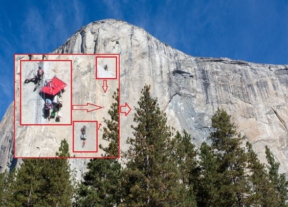 Climbers on El Capitan in Yosemite National Park