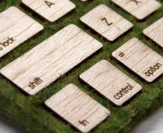 A mossy take on Apple's wireless keyboard