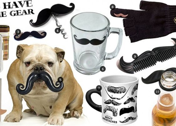 Must Have Mustache Gear | Cool Material