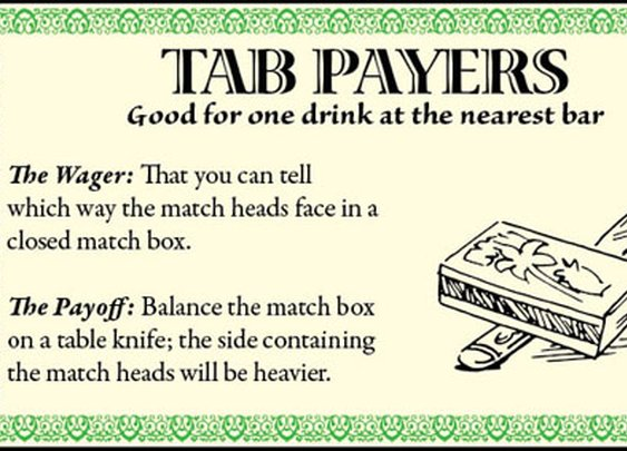 Tab Payers: 12 Classic Ways to Get a Friend to Buy You a Drink | The Art of Manliness