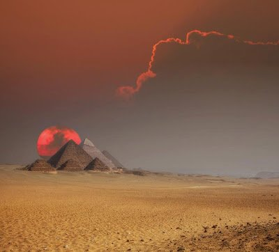 Fantastic shot -- The Egyptian pyramids