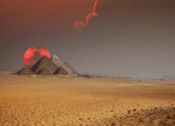 Fantastic shot -- The Egyptian pyramids