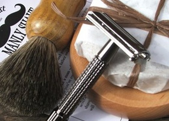 Dirty Deeds Soaps / Badger with Razor Shave Set