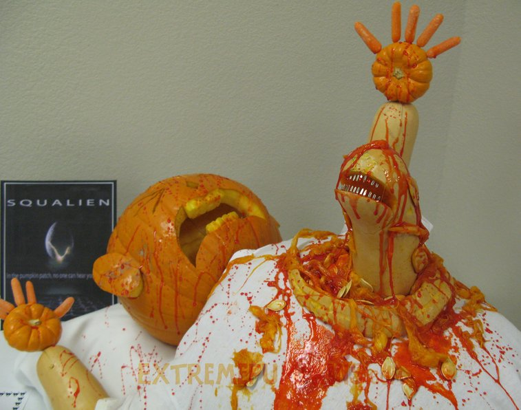 21 random, gross and funny pumpkin carvings